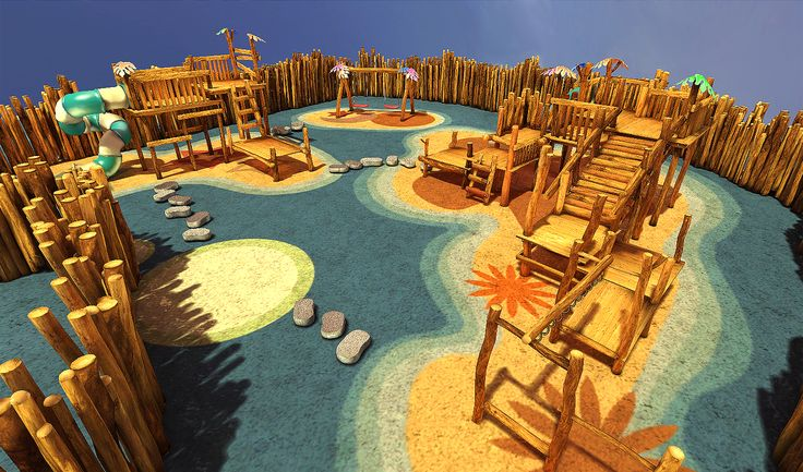 Playground,The final scene was rendered in UDK.