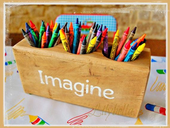 Wooden Crayon Holder Wood Crayon Holder Custom Crayon