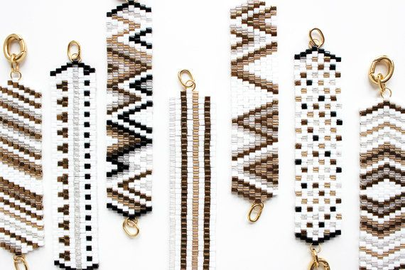 Sara Cramer | Geometric Patterned Bracelet with Clasp  renegadecraft.com/sanfrancisco-summer-home