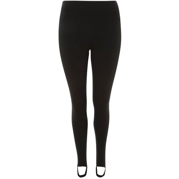 Topshop Petite Ponte Stirrup Leggings (85 BRL) ❤ liked on Polyvore featuring pants, leggings, black, ponte trousers, petite leggings, topshop leggings, relaxed pants and oversized pants