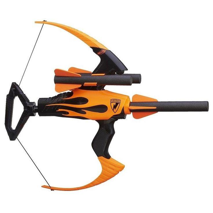Kids Nerf Blaster Gun Toy Game Outdoors Children Bullet Pistol Arrows Bow Black #KidsNerfBlasterGun