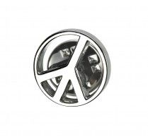 Peace Symbol Pin. These metal pins are finished with a very high quality rhodium plating. Size: 15mm round. http://www.stunningselection.com/peace-symbol-pin