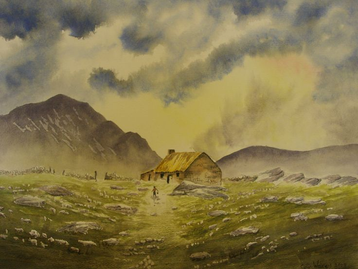 Irish Cottage 12 x 16 Water colour by            C Walters