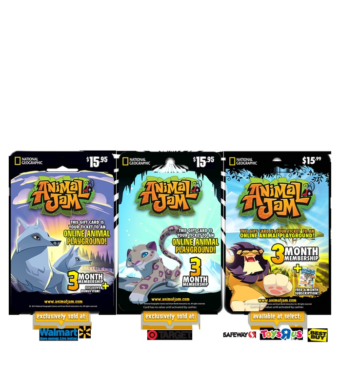 Animal Jam - Animal Jam Gift Cards at Target Walmart and others stores
