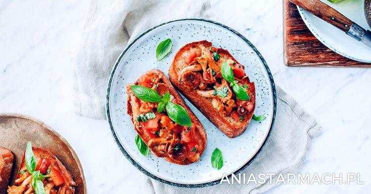 Bruschetta z kurkami i pomidorami | Ania Starmach