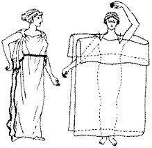 El CHITON de las mujeres se confeccionaba con una tela mas fina que el de los hombres. La mujer se envolvia con una venda de tela por debajo del pecho, luego se ponia encima una tunica de tela transparente y finalmente se vestia con una sobretunica corta y sin mangas.