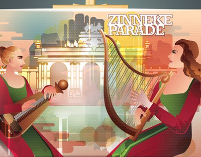 """Check out new work on my @Behance portfolio: """"Zinneke Parade Poster"""" http://be.net/gallery/36101213/Zinneke-Parade-Poster"""