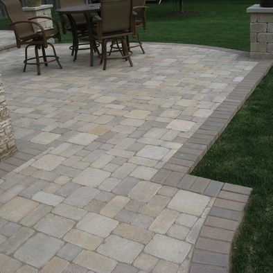 traditional patio pavers design we wouldnt have to worry about grass - Brick Paver Patio Designs