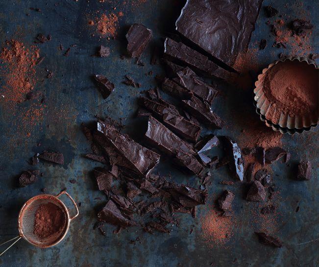 Homemade Dark Chocolate Slab. Featured in Crush Online Magazine.
