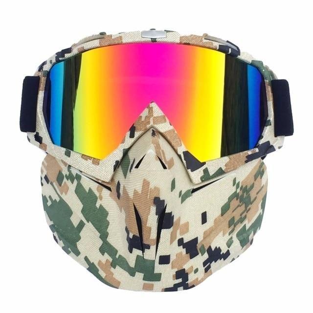 Winter Snow Sport Full Face Shield Mask Goggles Ski Snowboard Snowmobile Glasses