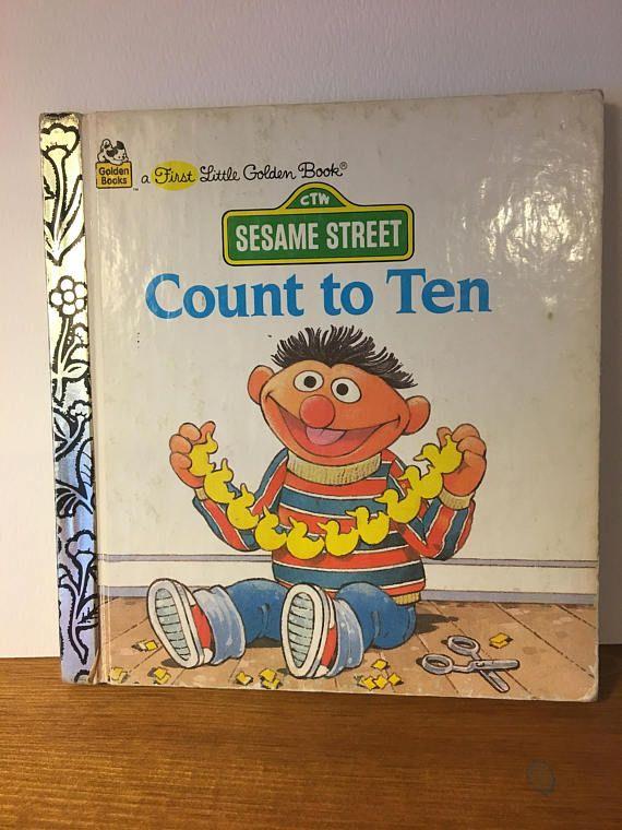 Count To Ten Sesame Street First Little Golden Book 1986 First