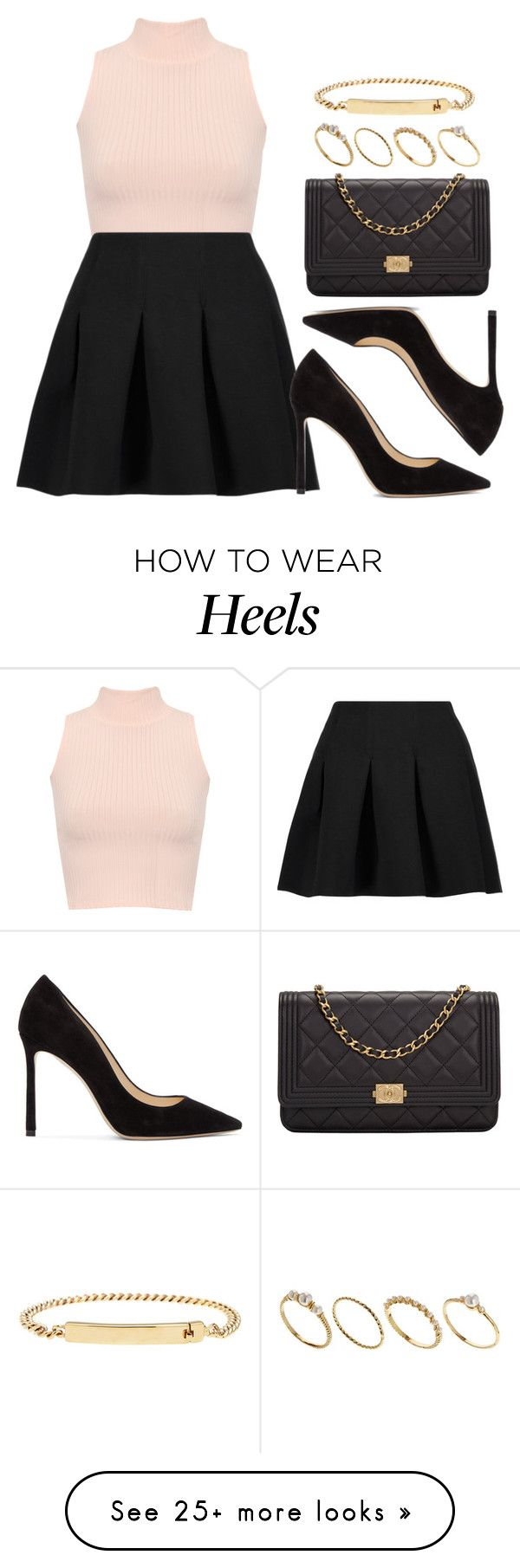 """""""Sin título #11893"""" by vany-alvarado on Polyvore featuring WearAll, T By Alexander Wang, Jimmy Choo, Chanel, ASOS and A.P.C."""