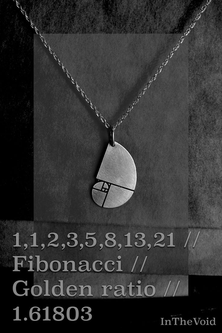 1,1,2,3,5,8,13,21 Elephant / Fibonacci sequence / Golden ratio necklace, pendant in silver or gold. Design by InTheVoid visit etsy.com to purchase. Price shown is for 9ct gold.   1.61803