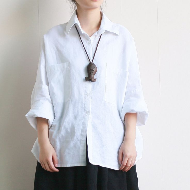 Women Casual Blouse Cotton and Linen Vintage Literary Neutral Batwing Sleeve New Female Loose Solid color Shirts 2016