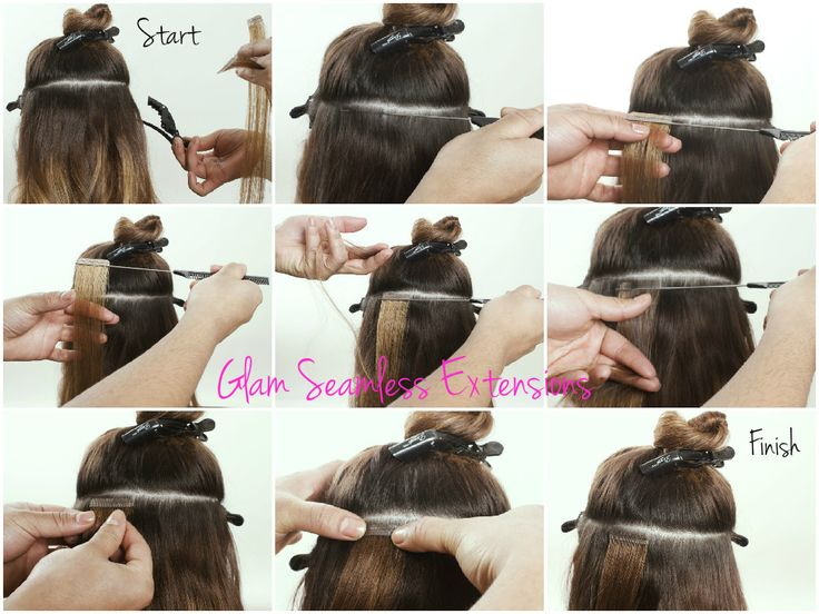 14 best salon owners aspiring stylists and cosmetologists images learn how to apply tape in hair extensions glam seamless provides online training no pmusecretfo Choice Image
