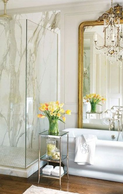 love the oversized mirror