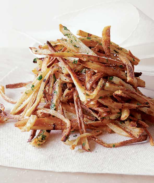 Garlic Fries Recipe (Golden and crisp at the edges, tender and lovely within. Although the parsley and garlic are a lovely touch, they're not required. Not at all.)