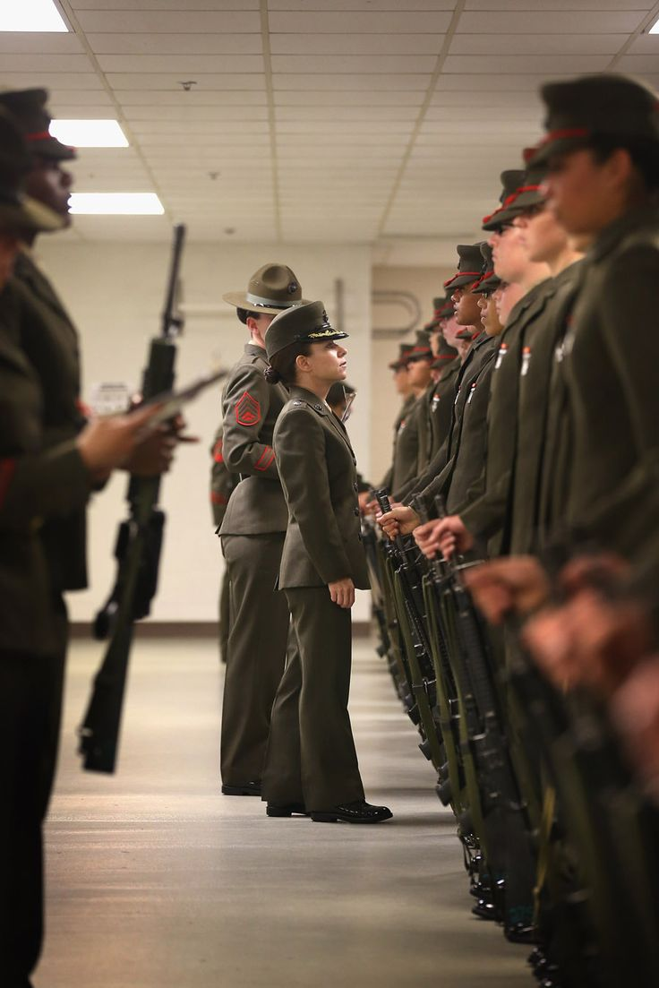 Inside Marine boot camp for female recruits - photo essay by Scott Olson of Getty Images #photography #military