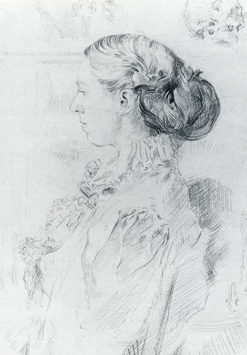 Augustus John: a drawing of his sister, Gwen John 1897 (she was 21)
