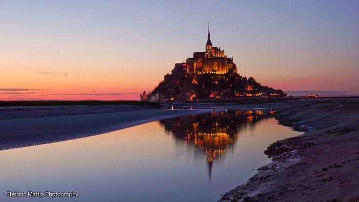 Mont Saint Michel al tramonto...