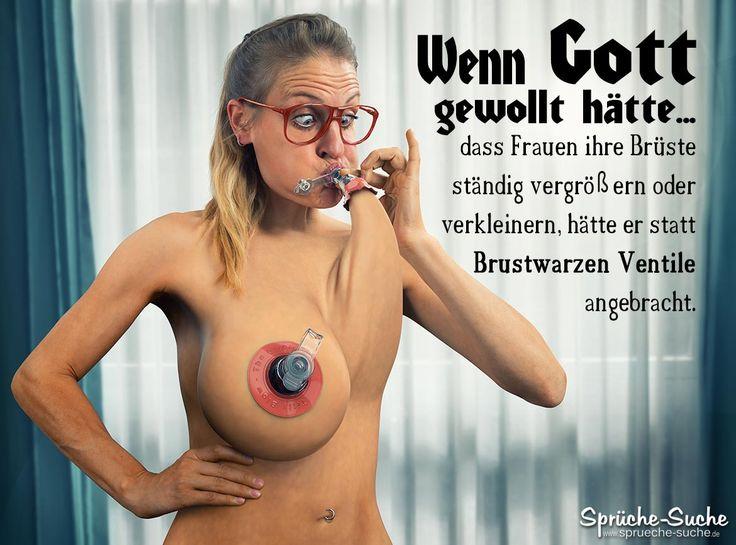 Lustige Sprüche Brustvergrößerung - Ventile an Brustwarzen