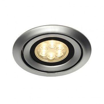 LUZO INTEGRATED LED, Deckeneinbauring, rund, chrom matt, 2700K, 36° / LED24-LED Shop