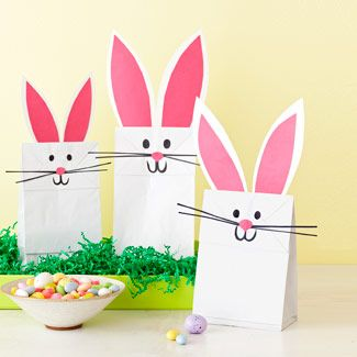 Easter treat bags - I think it would be easy to convert it into other animals as well. Caramel Potatoes