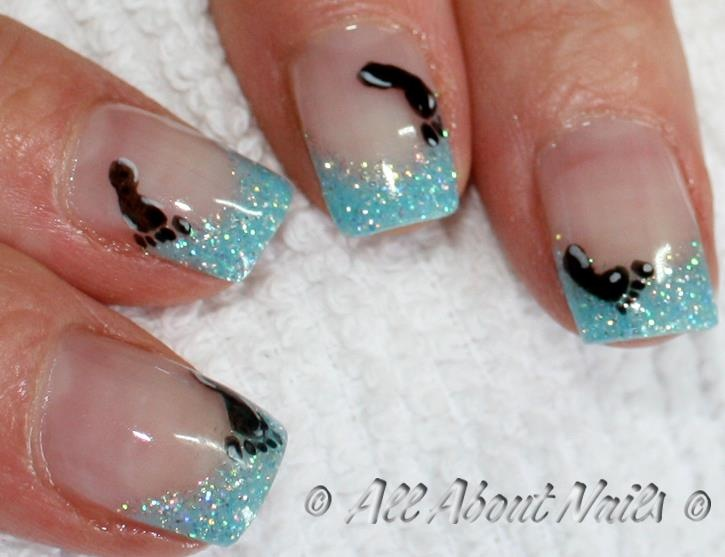 ITS A BOY!!!! Cute blue sparkle gel nails with hand painted baby - Best 25+ Baby Shower Nails Boy Ideas On Pinterest Baby Boy Nails