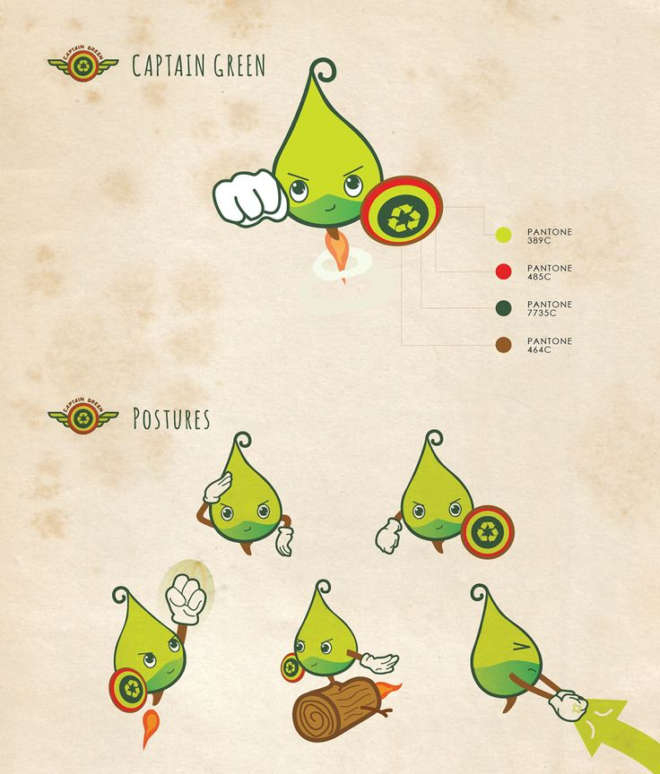 Character Design. Captain Green | for HK Green Council on Behance