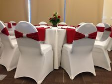 100 Spandex Lycra Banquet Chair Covers International Universal Stretch Wedding