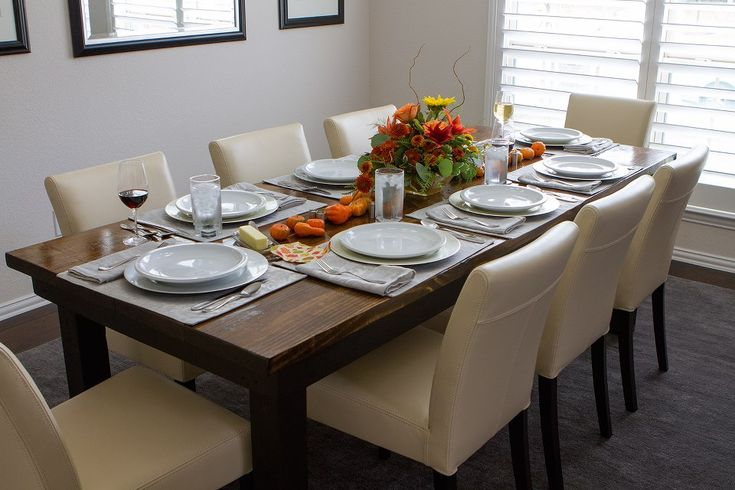 Thanksgiving spread on a james james table from www for Dining room tables 0 finance