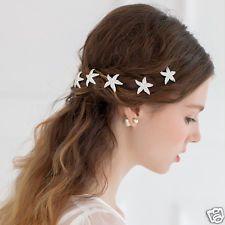 6pcs Starfish Wedding Hair Pins Bridesmaid Diamante Bridal Hair Clips Grips