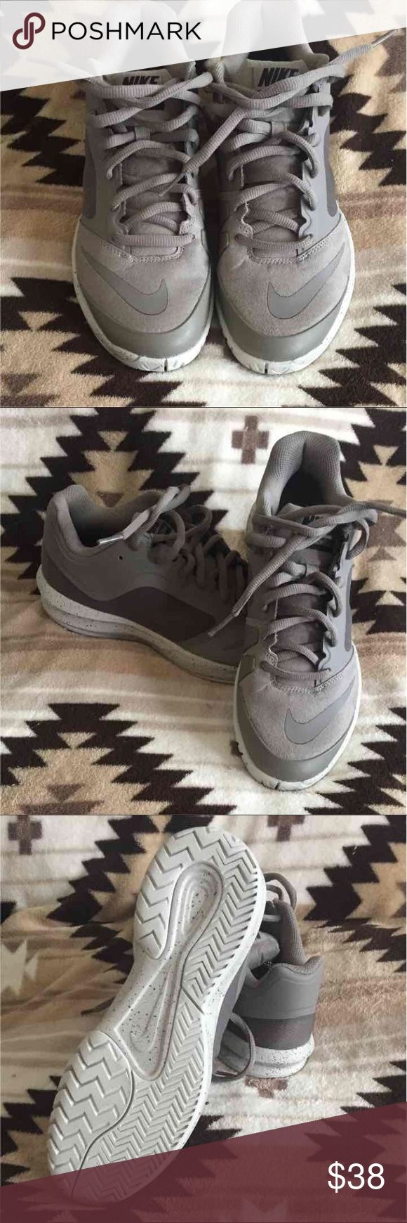 "Nike shoes Women's size 8 or boys 6.5. Purchased on clearance and found other ones I liked better. My loss your gain. Grayish/Brown ""Sand"" color. Nike Shoes Sneakers"