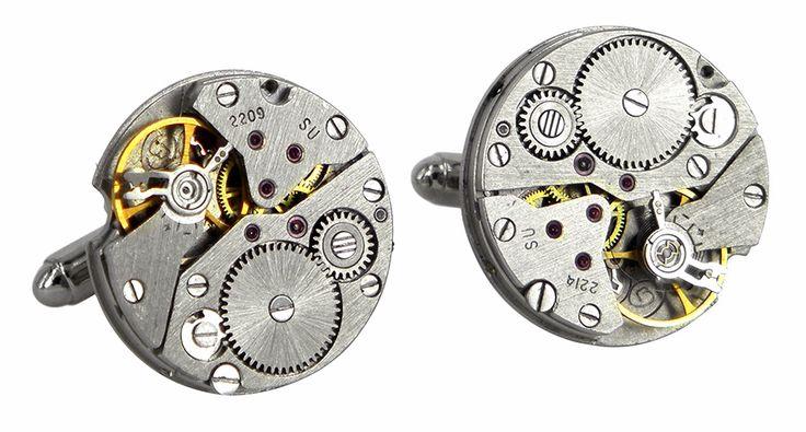 SU2209 watch movement cufflinks