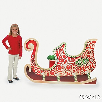 Sleigh Stand-Up - photo op (we could make something and paint it silver and white and use a bench to make photo booth.)
