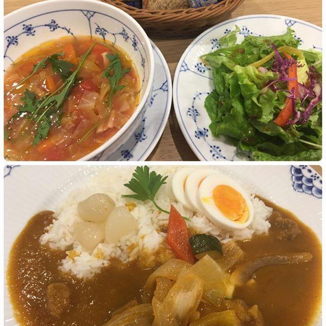 広島グルメ★中区 私のお気に入りカフェ⑦ 季節のスープセット&ビーフ、野菜カレー カレーが美味し〜い(#^.^#) ☆☆☆ #広島#グルメ#hiroshima#food#japan#japanesefood#カフェ#cafe#ランチ#launch#スープ#soup#カレー#curry#美味しい#good#お気に入り#ディナー#dinner#サラダ#salad#パン#bread#bakery#肉#meat