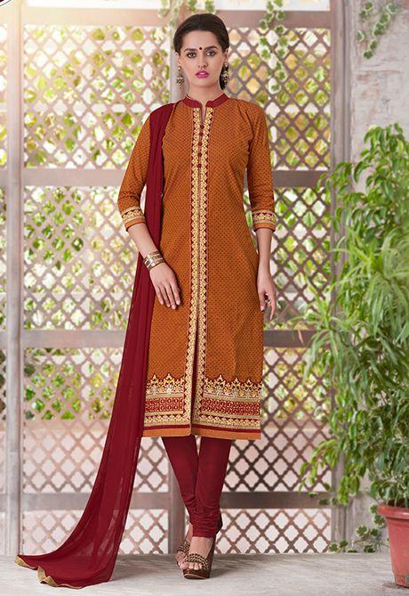 Readymade #Orange #Achkan Style #Salwar #Kameez #nikvik  #usa #designer #australia #canada #freeshipping #suits #pakistani