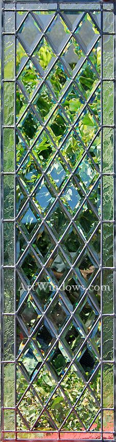 diamond beveled glass window