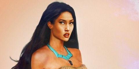 Pocahantas Here's What 11 Disney Princesses Would Look Like In Real Life -Cosmopolitan.com