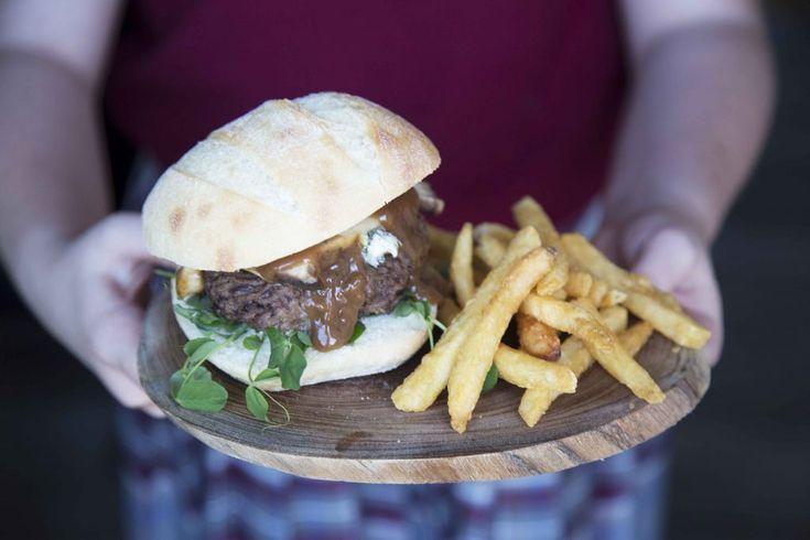 Hamburger champignon, bleu et sauce demi-glace #clubHouse