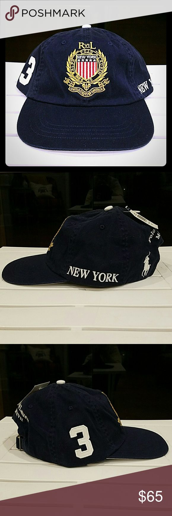 Polo Ralph Lauren Men's NY USA Crest Hat NWT Unisex Polo Ralph Lauren NY USA Crest Adjustable Hat. ?PRICE FIRM AT $65. ?? NO TRADES!! Polo by Ralph Lauren Accessories Hats