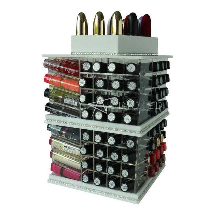mega tour de rangement blanche pour rouge l vres rangement make up. Black Bedroom Furniture Sets. Home Design Ideas