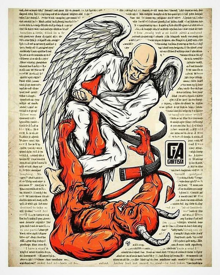 Brazilian jiu jitsu artwork