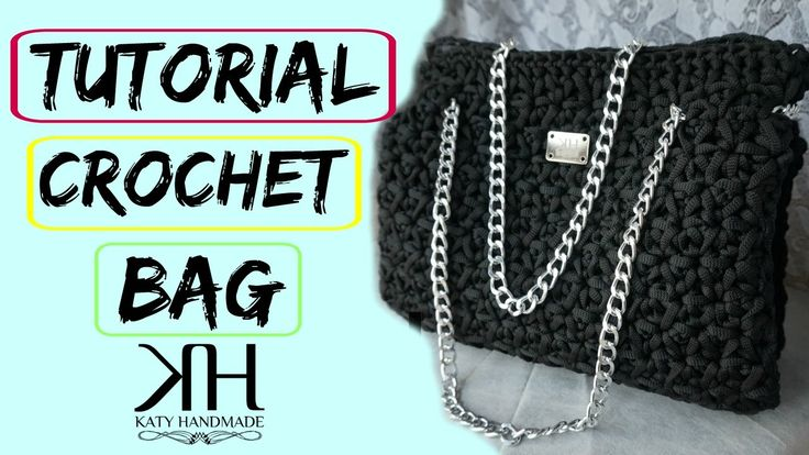 "Tutorial uncinetto borsa ""Emily"" | Crochet bag || Katy Handmade"