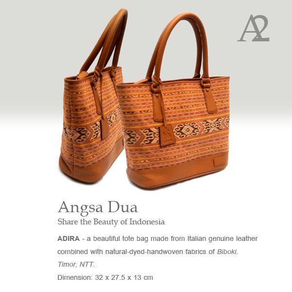 Angsa Dua Ikat Bag  Indonesian premium tenun bag.  made from tenun biboki natural dyed