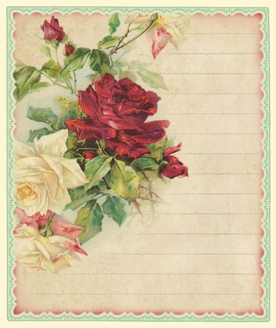 Only a Rosebud Large digital download Pink Roses vintage sheet ...