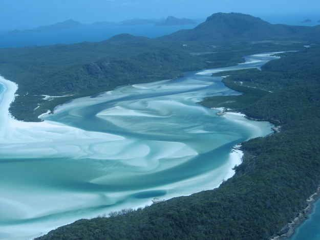 Whitehaven Beach at Whitsunday Island in Australia