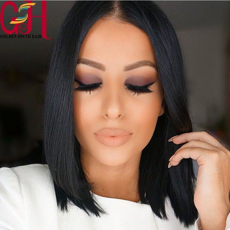 160.00$  Buy here - http://aliorf.worldwells.pw/go.php?t=32408128398 - 2016 Silk Top Full Lace Bob Wig Virgin Brazilian Short Lace Front Wigs Silk Base Glueless Perruque Silky Straight Human Hair