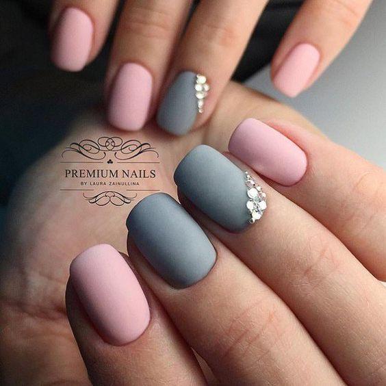 Stunning Short Manicures For Women - nail arts - nail ideas - nail designs