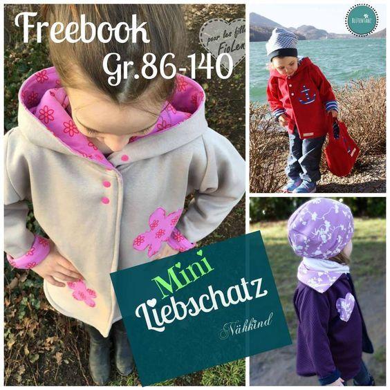 Freebook Mini Liebschatz Oversize-Mantel 86-140